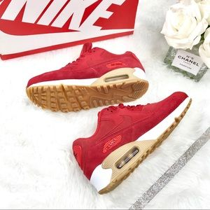 NWT Nike Air Max 90 Red/Tan/White - New in Box 6.5